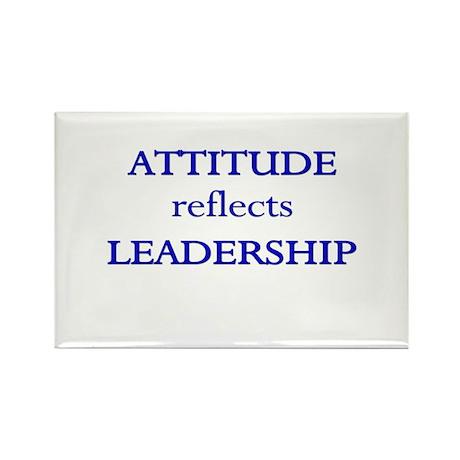 Leadership Attitude Gear Rectangle Magnet