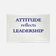 Leadership Attitude Gear Rectangle Magnet