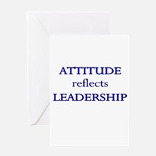 Leadership Attitude Gear Greeting Card