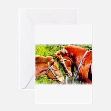 Cute Horse soccer Greeting Card