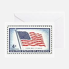 Patriotic Flag Stamp Greeting Card