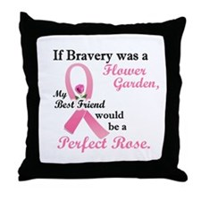 Bravery A Flower Garden 1 (Best Friend) Throw Pill