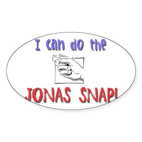 Jonas Snap Oval Sticker
