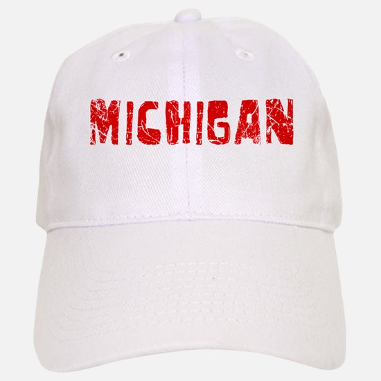 Michigan Faded (Red) Baseball Baseball Cap
