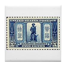 Patriotic Stamp Tile Coaster