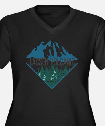 Unique Lassen volcanic national park Women's Plus Size V-Neck Dark T-Shirt