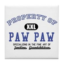 Property of Paw Paw Tile Coaster