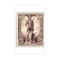 Patriotic Stamp Rectangle Decal