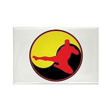 Yin Yang Kicker Rectangle Magnet