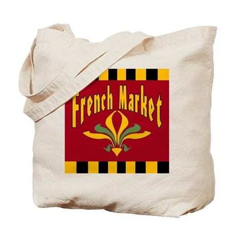 French MArket Sign Tote Bag