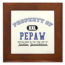 Property of Pepaw Framed Tile
