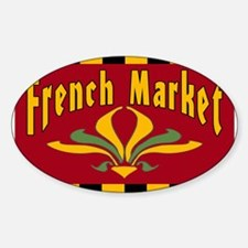 French MArket Sign Oval Decal