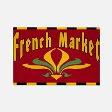 French MArket Sign Rectangle Magnet