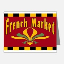 French MArket Sign Note Cards (Pk of 20)