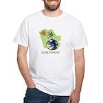 Solar Powered White T-Shirt