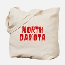 North Dakota Faded (Red) Tote Bag
