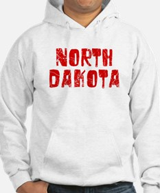 North Dakota Faded (Red) Hoodie