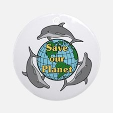 Save our Planet Ornament (Round)