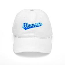 Retro Flowers (Blue) Baseball Cap