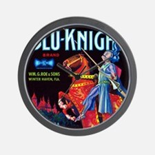 Blue Knight Wall Clock