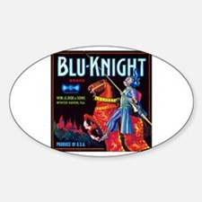 Blue Knight Oval Decal