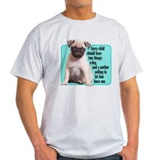 Pug, Child, Mother - T-Shirt