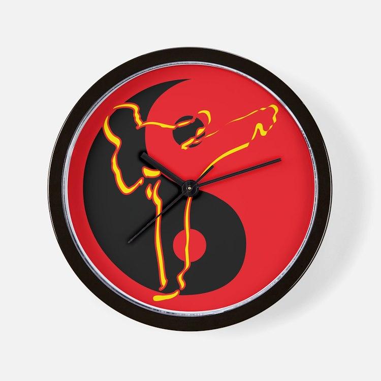 Yin Yang Kicker Wall Clock