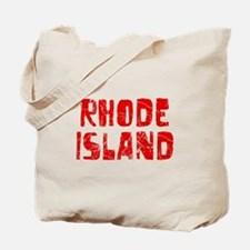 Rhode Island Faded (Red) Tote Bag