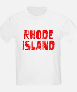 Rhode Island Faded (Red) T-Shirt