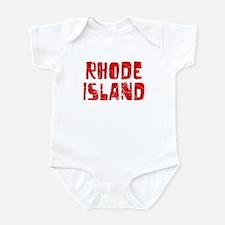 Rhode Island Faded (Red) Infant Bodysuit