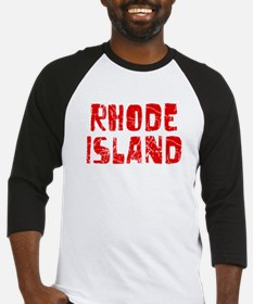 Rhode Island Faded (Red) Baseball Jersey