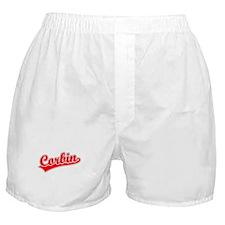 Retro Corbin (Red) Boxer Shorts