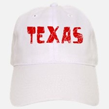 Texas Faded (Red) Baseball Baseball Cap