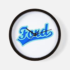 Retro Ford (Blue) Wall Clock