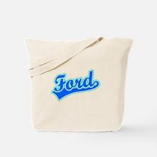 Retro Ford (Blue) Tote Bag
