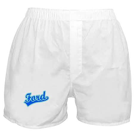 Retro Ford (Blue) Boxer Shorts