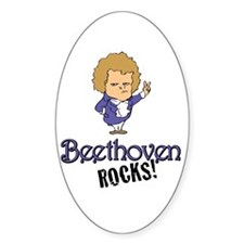 Beethoven Oval Sticker (10 pk)