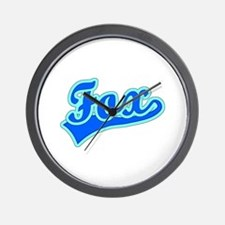 Retro Fox (Blue) Wall Clock