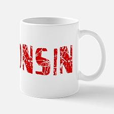 Wisconsin Faded (Red) Mug