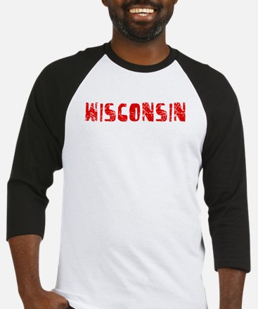 Wisconsin Faded (Red) Baseball Jersey
