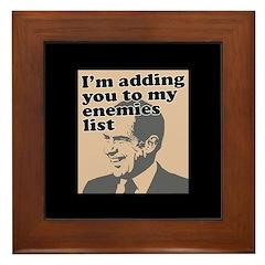 My enemies list Framed Tile