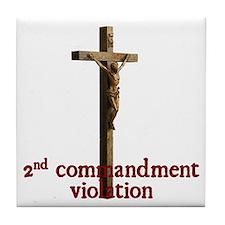Anti jews for jesus Tile Coaster