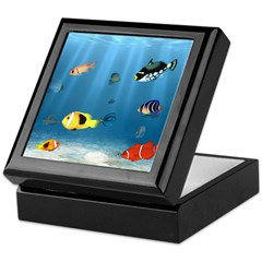 Oceans Of Fish Keepsake Box