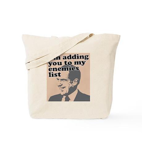 My enemies list Tote Bag