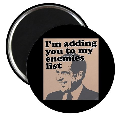 """My enemies list 2.25"""" Magnet (100 pack)"""