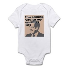 My enemies list Infant Bodysuit