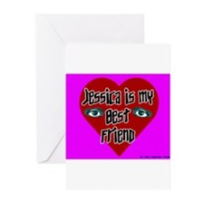 Jessica Is My Best Friend Greeting Cards (Package
