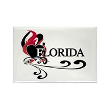 Heart Florida Rectangle Magnet