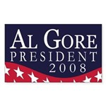 Al Gore President 2008 bumper sticker