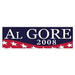 Al Gore 2008 (bumper sticker)